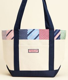 Tie Stripe Patchwork Classic Tote - Perfect for preppy shopping (Vineyard Vines)