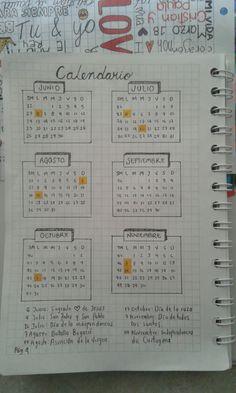 Bullet journal español (calendario)