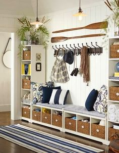 Coastal Decor, Beach, Nautical Decor, DIY Decorating, Crafts, Shopping | Completely Coastal Blog: Top Entryway Decor Ideas with a Coastal Wow Factor #entryway_decor_coastal