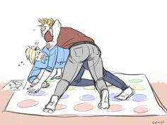 "it was an ""Imagine ur otp playing twister and getting tangled"" but rly [artist-san] wanted to draw denmark booty god bless Nordics Hetalia, Hetalia Anime, Hetalia Funny, Dennor, Spamano, Bad Touch Trio, All Anime, Anime Stuff, Boyxboy"