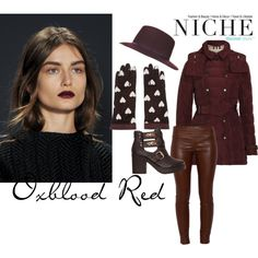 """""""Oxblood Red"""" by niche-magazine on Polyvore"""