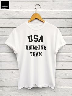 USA Drinking Team Tshirt  Sunday Funday Beer Pong Team