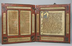 Devotional Diptych with inset Manuscript Texts, 15th century. Austrian. The Metropolitan Museum of Art, New York. Gift of Victoria and Iain Nasatir, 1984 (1984.276)