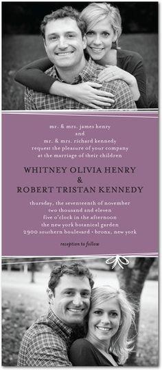 fun yet elegant wedding invite