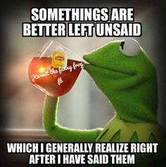 Kermit The Funny Frog's photo. Funny Kermit Memes, Haha Funny, Funny Jokes, Funny Stuff, Funny Shit, Random Stuff, Rude Meme, Funny Captions, Kermit The Frog Quotes