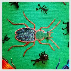 Stumpwork biller. Ground beetle.