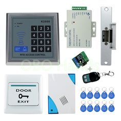 RFID Access Control System Kit Set with Electric Strike Lock Remote control Door bell Power Exit door Lock Keypad Free shipping ** AliExpress Affiliate's buyable pin. Locate the offer on www.aliexpress.com simply by clicking the VISIT button