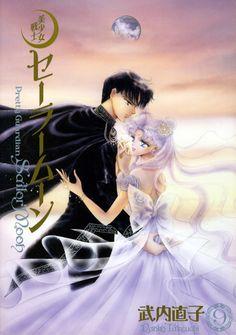 "Princess Serenity (Usagi Tsukino) & Prince Endymion (Mamoru Chiba) from ""Sailor Moon"" series by manga artist Naoko Takeuchi. #SailorMoon #anime #manga"