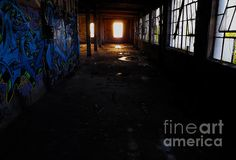 Abandoned Space I - photograph by James Aiken Abandoned Space I - Fine Art Prints and Posters for Sale james-aiken.artistwebsites.com #jamesaiken #abandonedplaces #graffiti