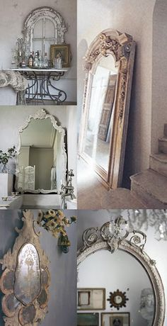 Vintage mirrors are a must!!
