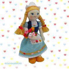 Dutch Doll Crochet Pattern ♥ by HandmadeKitty. Pattern available for purchase here: http://www.etsy.com/listing/98602210/dutch-doll-amigurumi-pdf-crochet-pattern