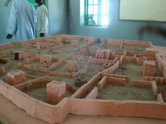 model of ancient Dikwa fort, Sahara
