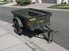 World War II Jeep trailer before