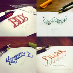 New 3D Calligraphy Experiments by Tolga Girgin