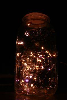 love this, looks like fireflies in a jar