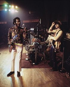 """Chuck Berry with Keith Richards of The Rolling Stones """