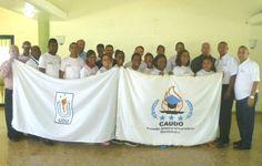 Parte de la delegación de la UDU y el CAUDO.