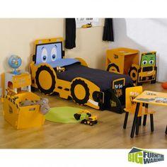 Kidsaw JCB Design Junior Bed | Big Furniture Warehouse