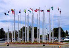 Fotos de Ciudad Juárez, Chihuahua, México: Plaza de las Banderas en el Puente internacional del Chamizal