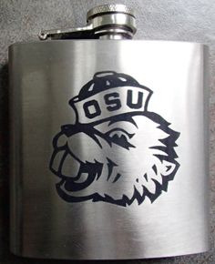 Oregon State University Flask with name/initials by DeesEngraving, $17.00