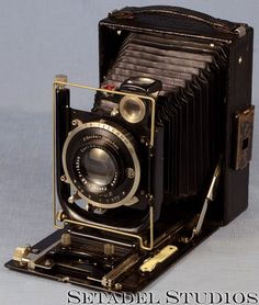 "This Zeiss Ideal 250/7 4x5 folding plate camera is in excellent condition cosmetically, mechanically and optically. Features a Carl Zeiss Jena 135mm f4.5 lens. Lens serial #31188849. Desirable ""888"" i"