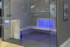 Baño de vapor en solid surface | Inbeca
