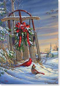 Christmas Card - Christmas Blessings   Sam Timm   71958   Leanin' Tree