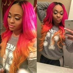 Color is everything gorgeous hair color beautiful & fashion girl!! #hairfashion #wigfashion #wigslayed #everything #makeup #wiginstall #africanamericanhair #fulllacewigs #beautifulhair #pink #ombre #ombrehair #highlight #silktopwigs #humanhairwigs #hair #wig #lacewigs #lacefrontwigs #gluelesswig #hot   Coco Black Hair provide the most natural looking hair and wigs Change yourself today!
