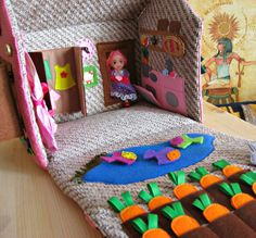 Etsy 65  $  Dollhouse Bag for Travel / Portable Travel Toy / от MagicRabbitToy
