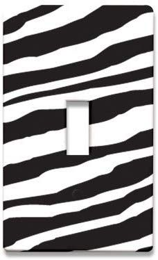 Zebra Switch Plate Cover - Switch Plates - Amazon.com#wallcovering#dorm Switch Plate Covers, Switch Plates, Dorm Room, Room Decor, Amazon, Dormitory, Amazons, Riding Habit, Dorm Rooms