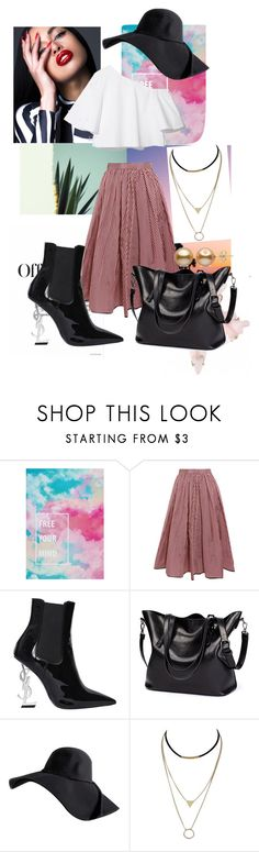 """Bez naslova #82"" by amina-omerkic ❤ liked on Polyvore featuring De Lacy, Tome and Yves Saint Laurent"