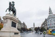 Praça da Liberdade em Porto, Portugal