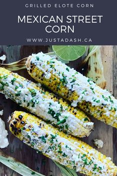 This Grilled Mexican Street Corn on the Cob really takes plain corn on the cob over the top! This Feta and Lime flavoured spread comes together in under 5 minutes! Slow Cooker Creamed Corn, Creamed Corn Recipes, Buzzfeed Tasty, Buzzfeed Food, Food Network Recipes, Real Food Recipes, Feta, Portobello Mushroom Burger, Mexican Street Food