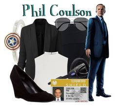 """Agent Phil Coulson"" by mcu-marvel-creations ❤ liked on Polyvore featuring Maticevski, LE3NO, H&M, Elizabeth and James, Venom, Via Spiga, women's clothing, women, female and woman"