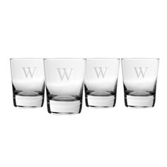 Set of 4 engraved old fashioned glasses for him #ValentinesDay