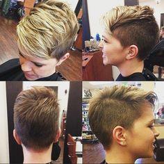 @hairbymarissamae one???✂✂ #pixiecut #shorthairdontcare #shortcut #blonde