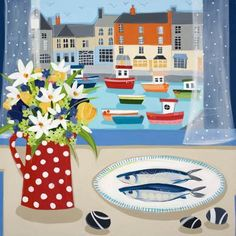 Janet Bell Print~ a good reminder to eat more fish