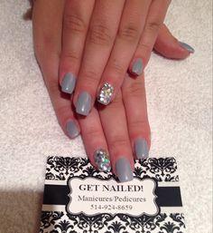 Matte nails with hexagon sparkles nail art