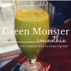 Green monster smoothie recipe #cleaneating #glutenfree #dairyfree