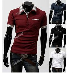 Purity Cotton Casual Turndown Collar Short Sleeve Polo T-Shirts for Boy Men NMS-148432 http://www.tinydeal.com/index.php?main_page=index&cPath=865&sk=22126987pv
