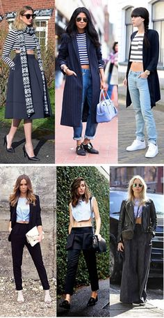 If we think of the crop top, matching the original and refined are the ones with plain pencil skirts and high-waisted pants the long skirt is another possibility, but perhaps now you see too often