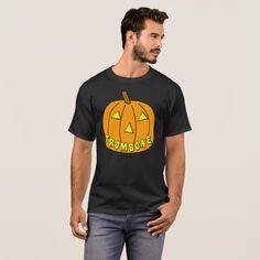 Trombone Halloween Pumpkin T-Shirt #halloween #holiday #creepyclothing #fashion #mensclothing