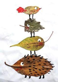 Herbstdeko basteln -DIY Bastelideen - Blatt Tiere basteln mit Kindern Source by diydekoideen crafts Kids Crafts, Projects For Kids, Diy For Kids, Arts And Crafts, Autumn Art Ideas For Kids, Leaf Projects, Kids Nature Crafts, Toddler Crafts, Eco Kids