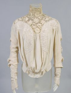 Woman's blouse   Artist/maker unknown   United States, circa 1905   Silk with embroidery and lace   Philadelphia Museum of Art