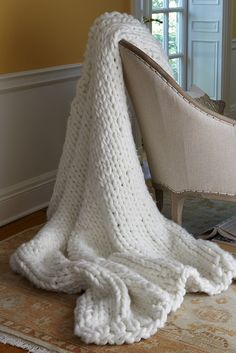 Blanket + tassels = ahhhmazing. See my fave knit blankets here...   Design The Life You Want To Live
