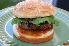 Sweet and Tangy Turkey burgers