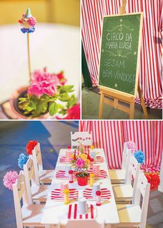 Girly Big Top Circus First Birthday Party with tissue flower decor! http://www.nashvillewrapscommunity.com/blog/2011/09/how-to-make-tissue-paper-flowers/