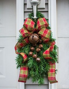 Faux Christmas Tree Re-purposed Three Ways | Diy Clip-on Christmas Swags - TheNavagePatch.com