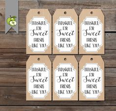 thanksgiving gift tag thankful favor tags gift by TheArtyApples