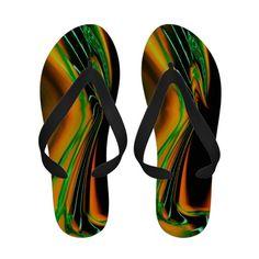 Fruit Stripe Abstract Flip Flops